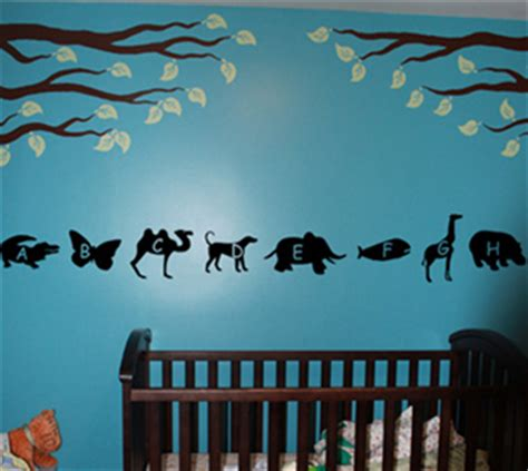 animal alphabet wall decals trading phrases