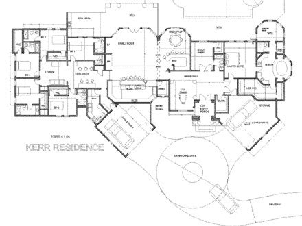 Large Luxury House Plans Large Single Story Floor Plans Single Story Luxury House Plans Not So Small House Plans