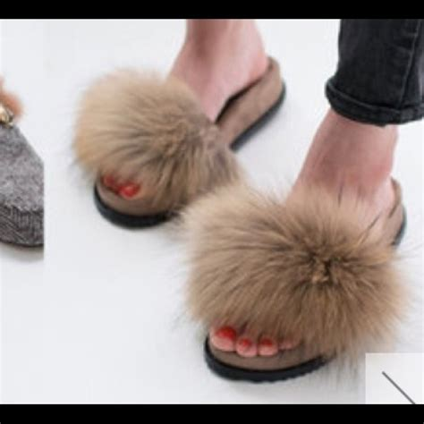 fur slippers 56 givenchy shoes fur slippers from irena s closet