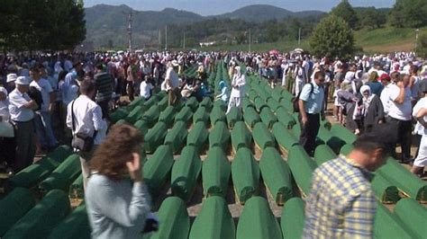 Reporter Srebrenica by Hundreds Line Streets Of Bosnia To Pay Respects To 175 Victims Of Srebrenica As Lorry