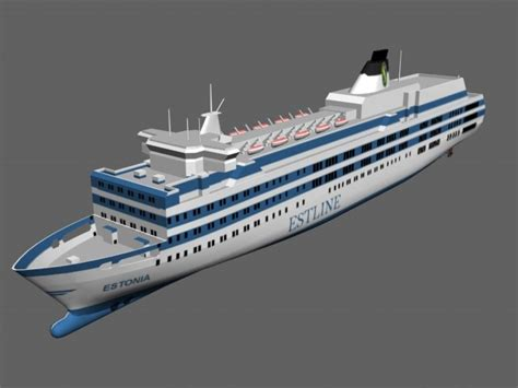 schip estonia estonia disaster ship 3d 3ds