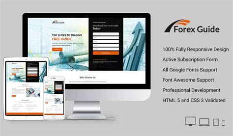 forex landing page template forex guide landing page design template to boost your
