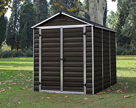 Plastic Garden Sheds For Sale by Palram Skylight Plastic Shed 6ft X 8ft Brand New Colour Brown Cheap Sheds For Sale