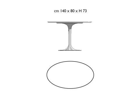 tavolo knoll saarinen ovale tavolo ovale tulip saarinen 140x80