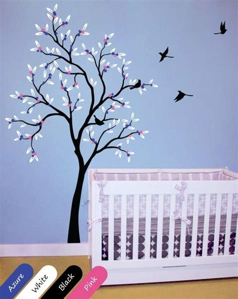 Nursery Wall Decorations Removable Stickers Baby Nursery Tree Wall Decal Removable Vinyl Wall Decor Room Sticker Kr022 Ebay