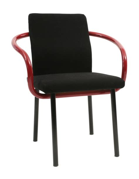 Black Dining Room Set 6 Ettore Sottsass Knoll Mandarin Chairs Red Modern Furniture
