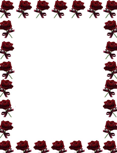 free printable stationary with roses 8 best images of elegant rose stationery free printable