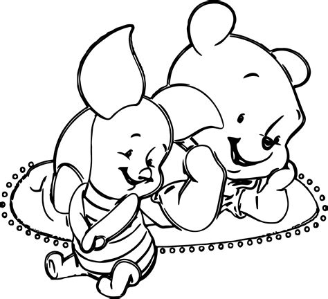 baby pig pooh coloring page wecoloringpage