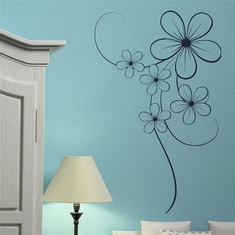 flowers wall stickers flower floral wall transfer vinyl wall decal