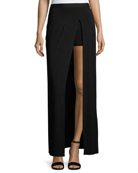 Lafayette Salem Maxi By Glz haute hippie slayer jersey slit maxi skirt black neiman
