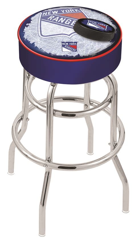 bar stool nyc new york rangers counter height bar stool w official nhl