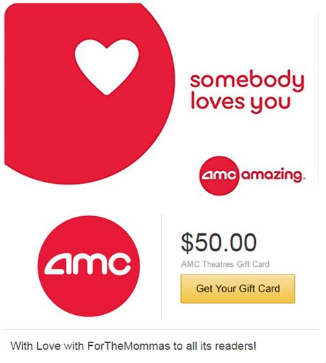 Amc Gift Card Promo Code - 50 00 amc theatres giftcard for 40 00 ftm