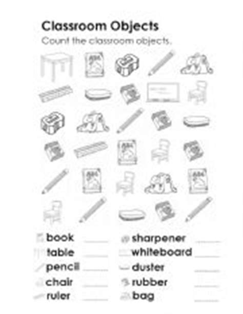 teachers rubber sts teaching worksheets classroom objects