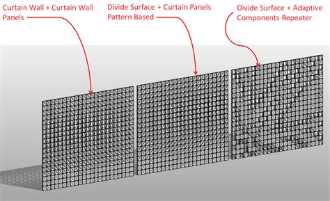 how to create a curtain wall in revit curtain wall vs curtain pattern vs adaptive component