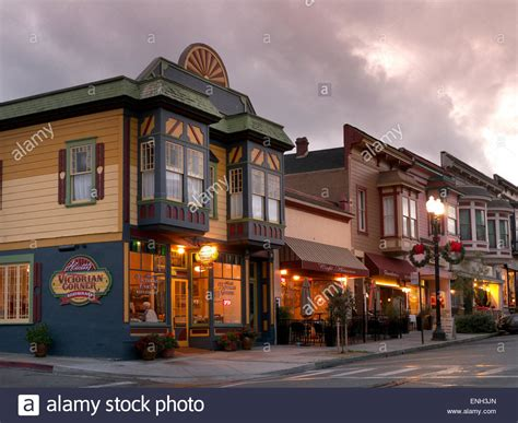 small american town typical small town american clapboard restaurants and