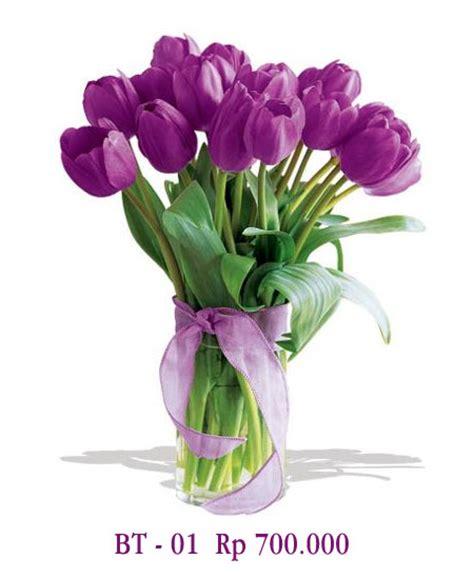 Buket Bunga Artificial Paket Sangkarvas Melamindekorasipajangan vas bunga tulip ungu