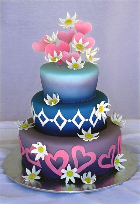 Colourfull Cake colorful wedding cakes food and drink