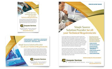 Computer Consulting Website Template Computer Services Consulting Flyer Ad Template Word Publisher