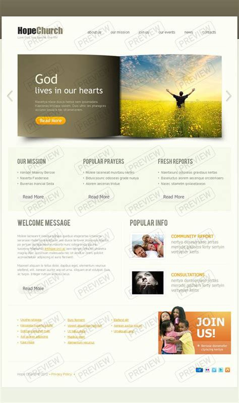 Best Church Website Templates Entheos Church Website Templates