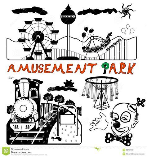 theme park vector vector amusement park royalty free stock photos image