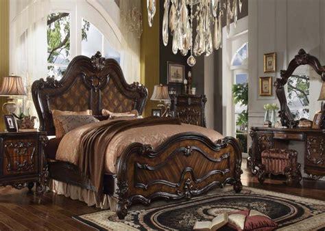 cherry oak bedroom set versailles bedroom in wood with cherry oak finish all