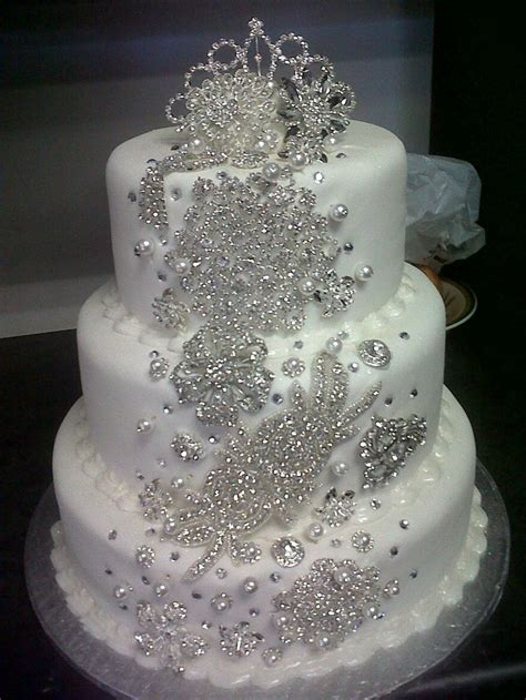 cakes with bling on invitations ideas