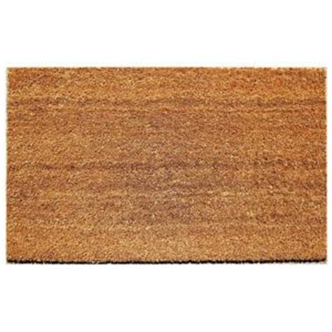 beige 18 in x 30 in coir and vinyl door mat 20815 1