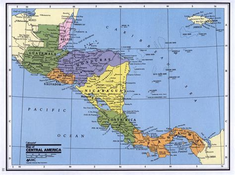 map of the america detailed political map of central america central
