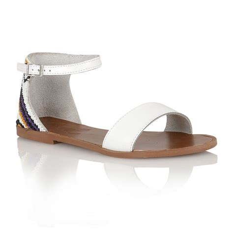 buy ravel wichita flat sandals in white leather