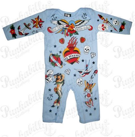 tattoo onesie school baby onesie