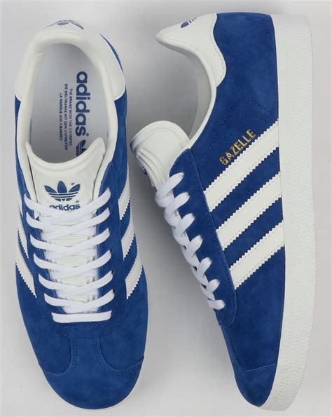 adidas gazelle trainers royal bluewhite  casual classics