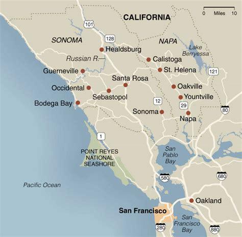california map napa sonoma california napa and sonoma villa rentals vacation