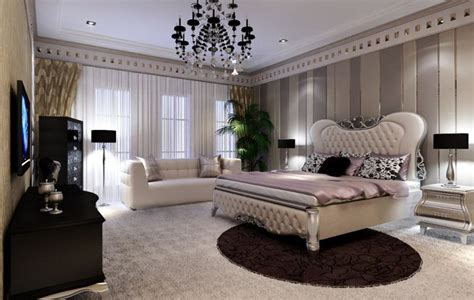 European style minimalist bedroom villa   Interior Design