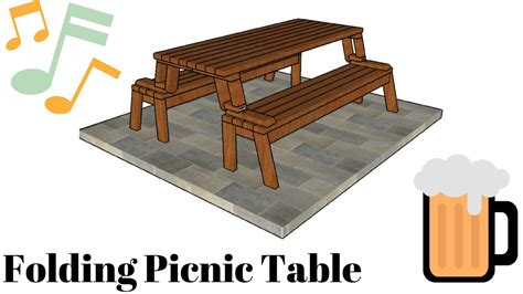 Folding Picnic Table Plans Folding Picnic Table Plans Doovi