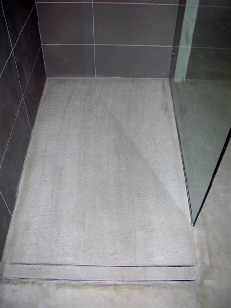 How To Tile A Shower Floor On Concrete by Mode Concrete Modern Open Concept Bathroom Featuring A