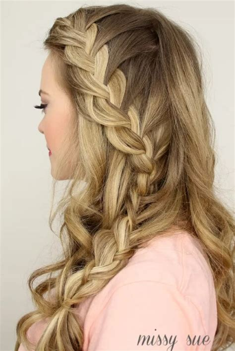 plaiting styles for a side fringe the prettiest french plait exles to try out this summer