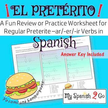 preterite tense regular ar er ir verbs a practice