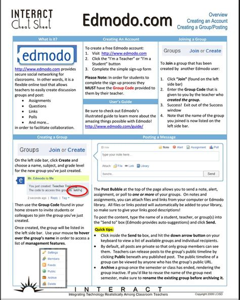 edmodo ödev yükleme edmodo resources for teachers a comprehensive chart