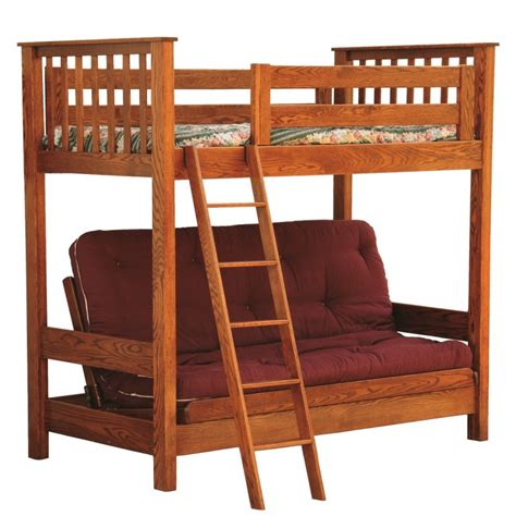 futon loft bed futon loft bed amish made in usa country furniture