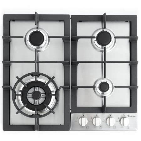 chef cooktop magic chef 24 quot built in gas cooktop in stainless steel