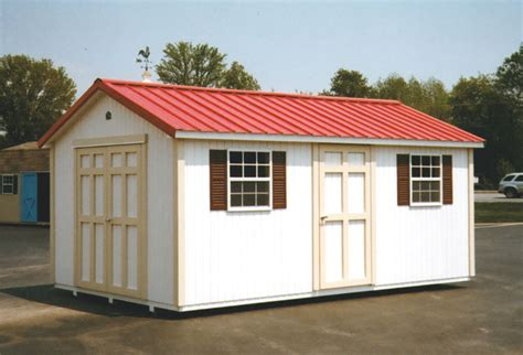 Building A Shed R by 10 X 16 Ranch With Metal Roof R 18 Portable