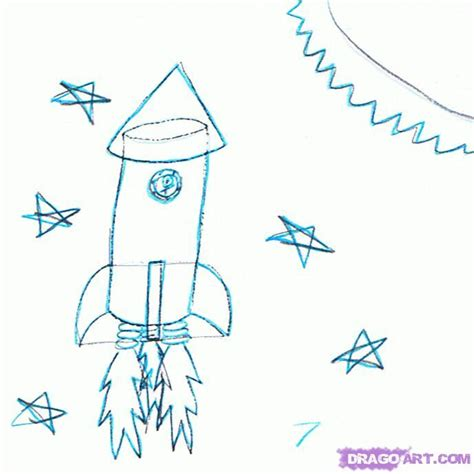 doodle how to make rocket how to draw a rocket ship step by step space crafts sci