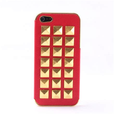 Handmade Iphone 4 Cases - newyorkscene rivet on litchi grain stick handmade