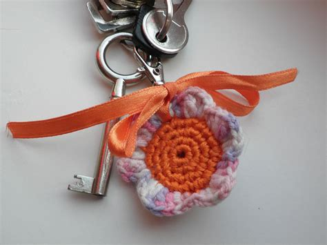 pattern crochet keychain fun and fang free flower keychain crochet pattern