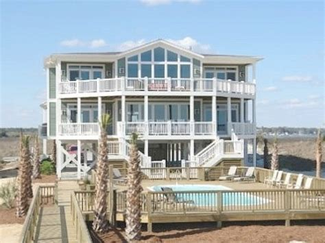 carolina beach house rentals oceanfront beach house rentals in north carolina house decor ideas