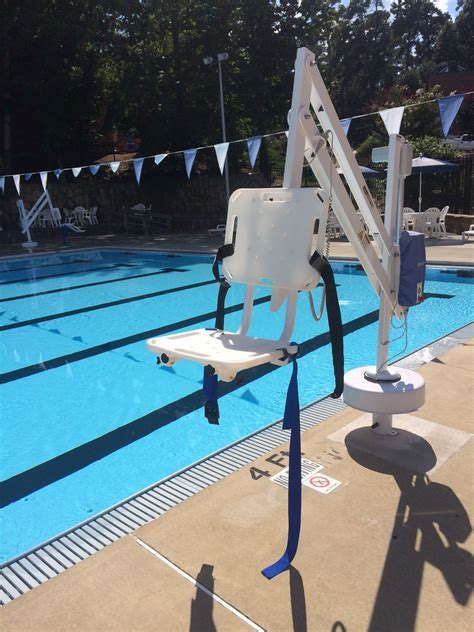Pool Chair Lift by Accessible Equipment Unc Cus Rec
