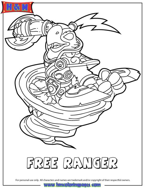 free coloring pages of skylanders pop thorn