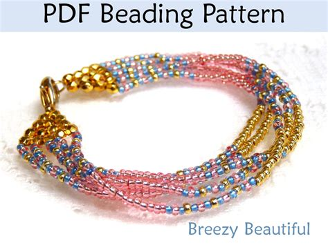 beaded bracelet patterns jewelry beading tutorial pattern multi strand
