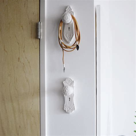 Door Knob Hooks Wall the mortise collection door knob wall hooks set of 3
