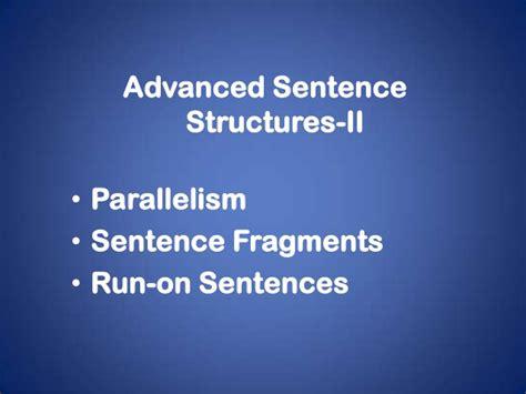 sentence patterns advanced advanced sentence structures